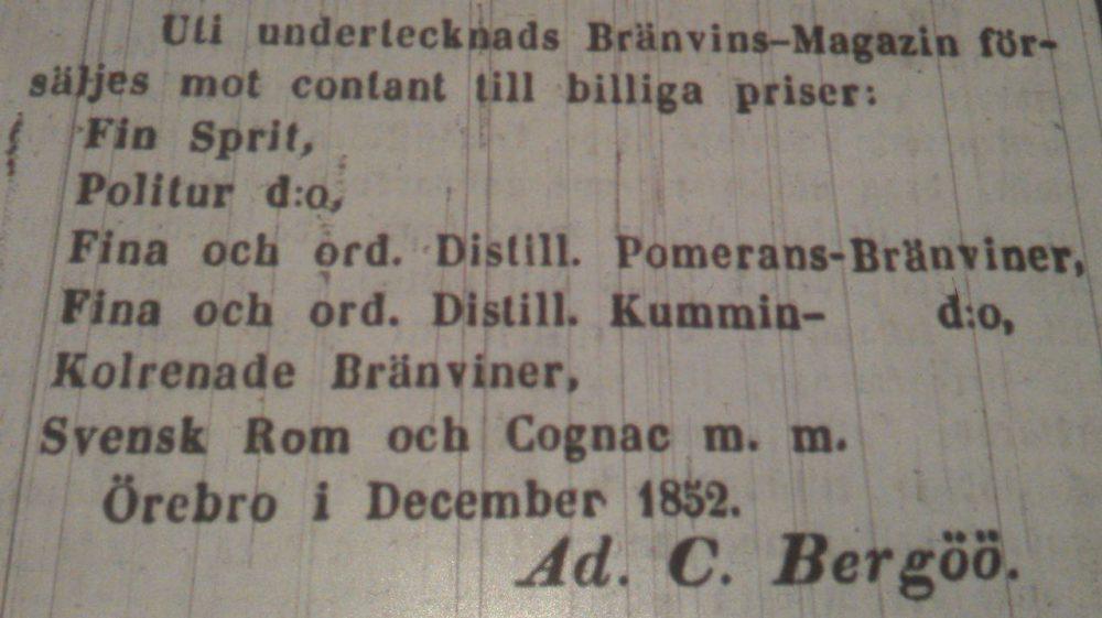 Annonser 1852